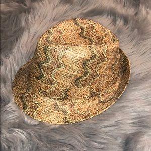 Accessories - Tan Snake Skin like Fedora. Worn once.